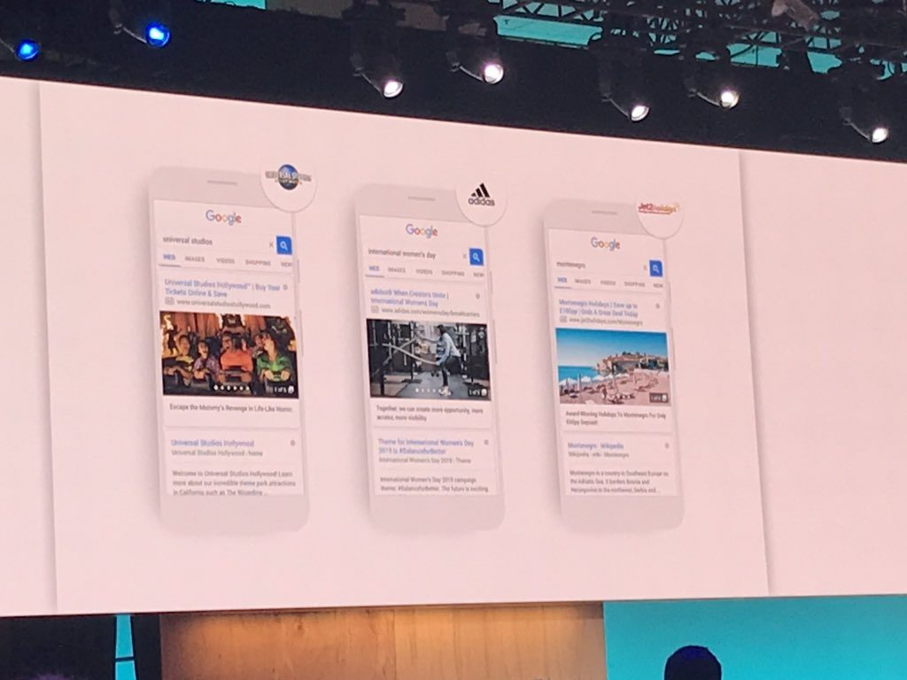 Gallery Ads mostrados en Google Marketing Live 2019