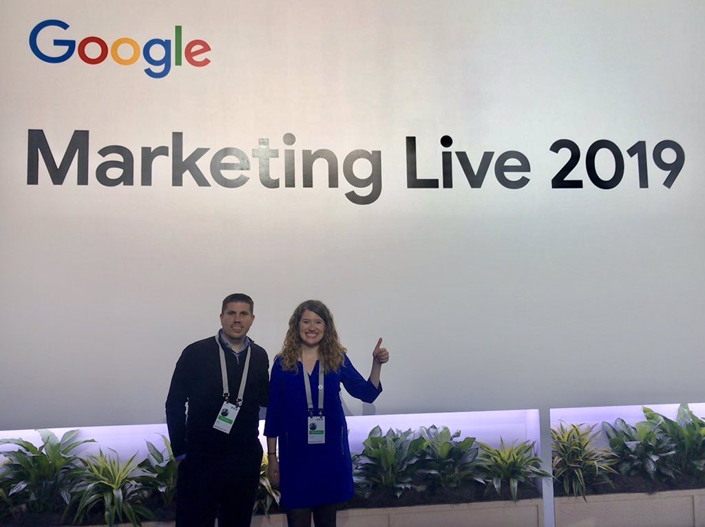 Jesús Barón y Natalia Sampériz, de Semmantica, en Google Marketing Live 2019 (San Francisco)